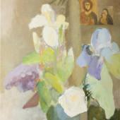 Klusā daba ar īrisiem | Still life with iris flowers