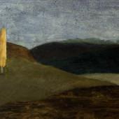 Ainava ar divām papelēm | Landscape with two poplars