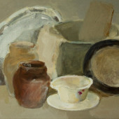 Klusā daba ar pannu | Still life with pan