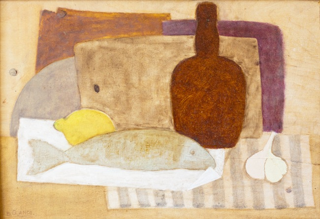 Klusā daba ar zivi | Still life with a fish